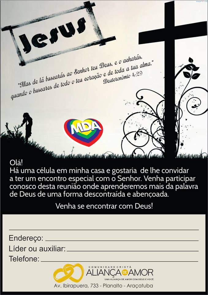 Modelo Panfleto Convite Célula